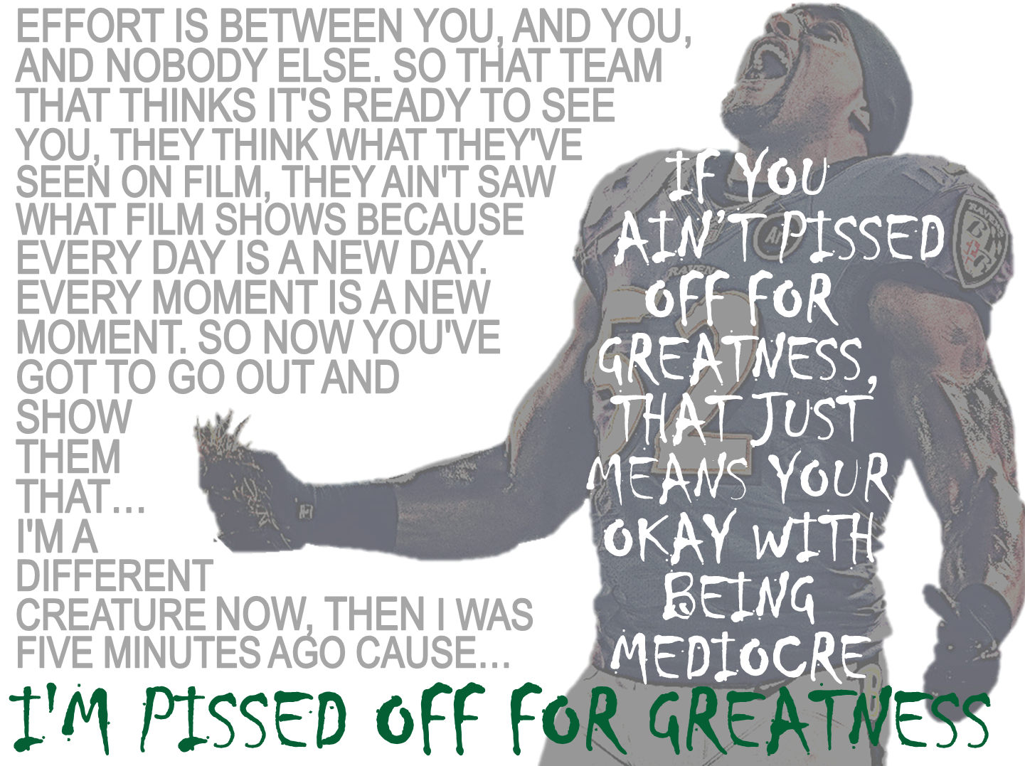 "Ray Lewis ""Pissed Off For Greatness"""