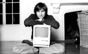 steve jobs with computer