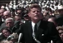 John F Kennedy go to the moon